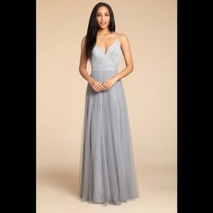 Hayley paige tulle bridesmaid dress
